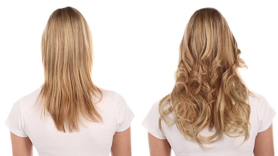 Blond curly hair extensions